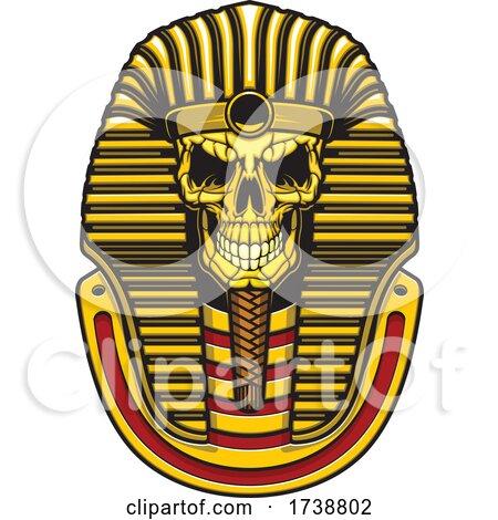 Egyptian Pharaoh Skull by Vector Tradition SM