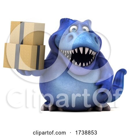 3d Tyrannosaurus Rex Dinosaur, on a White Background by Julos