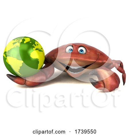 3d Crab, on a White Background Posters, Art Prints