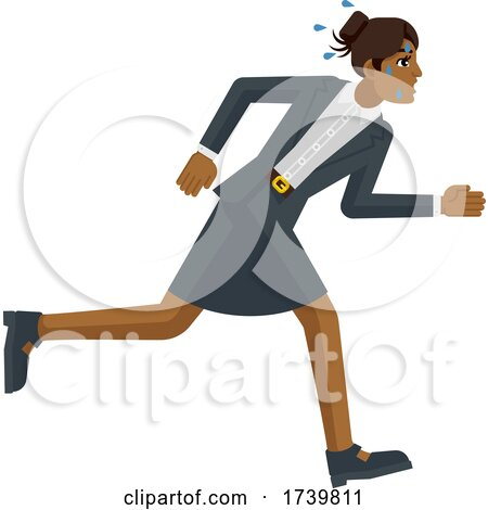 Business Woman Stress Tired Running Race Concept by AtStockIllustration