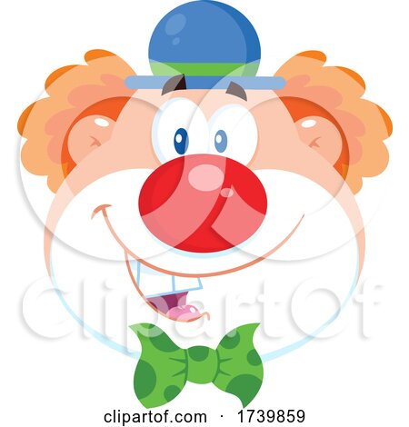 Happy Clown Face by Hit Toon