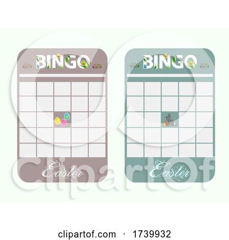 New Easter Bingo Card Blank and Decorated by elaineitalia