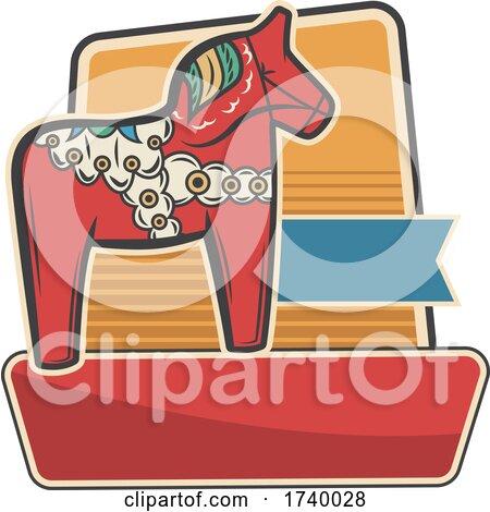 Swedish Dalla Horse Design by Vector Tradition SM