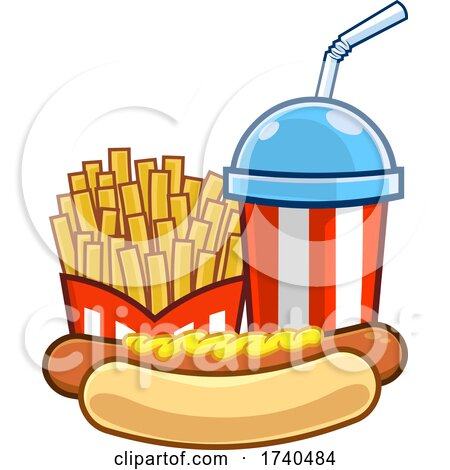 Slushy or Soda with Fries and a Hot Dog by Hit Toon