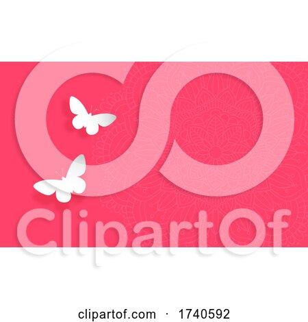 Butterfly Mandala Background by KJ Pargeter