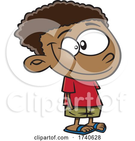 Cartoon Boy with His Hands in His Pockets by toonaday