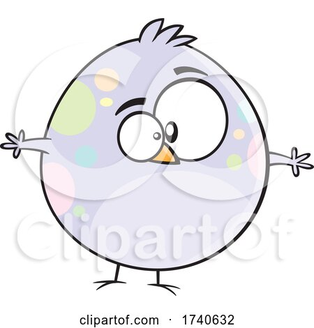 Cartoon Fat Spotted Easter Chick by toonaday