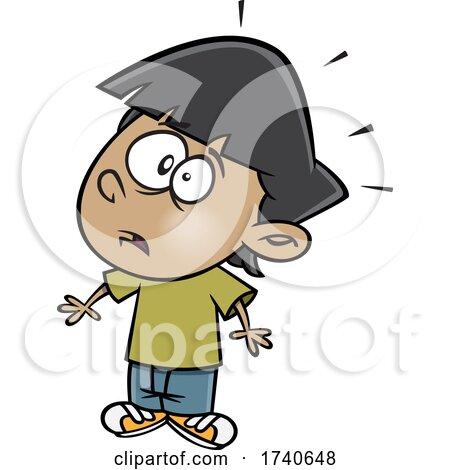 Cartoon Boy Looking Shocked by toonaday