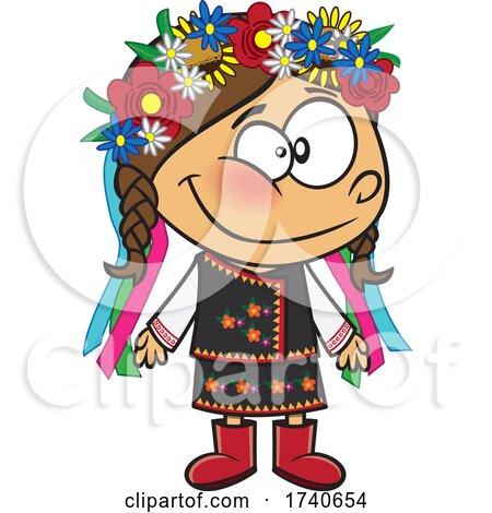 Cartoon Ukraine Girl by toonaday