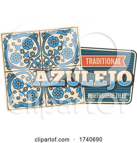 Traditional Azulejo Portguese Tile by Vector Tradition SM