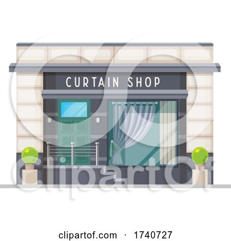 Curtain Shop Building Storefront by Vector Tradition SM