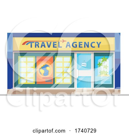 Travel Agency Building Storefront by Vector Tradition SM