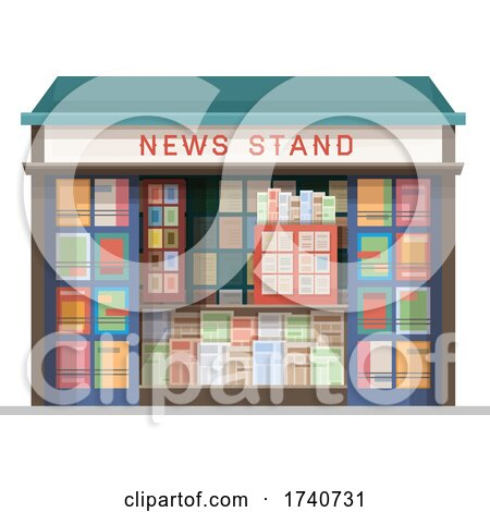 News Stand Building Storefront by Vector Tradition SM