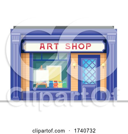 Art Shop Building Storefront by Vector Tradition SM
