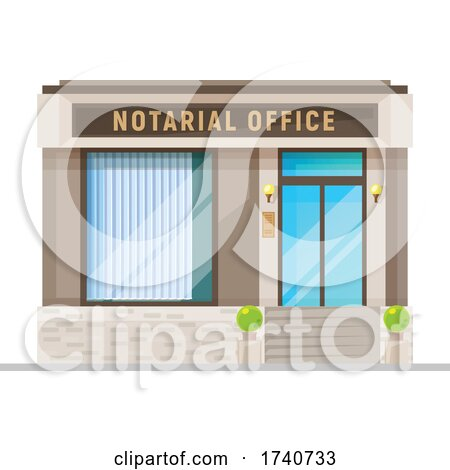 Notary Building Storefront by Vector Tradition SM