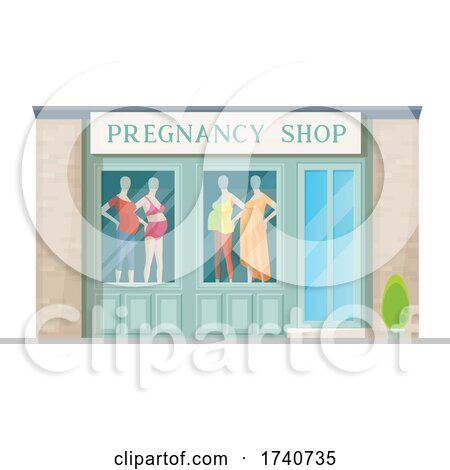 Pregnancy Building Storefront by Vector Tradition SM