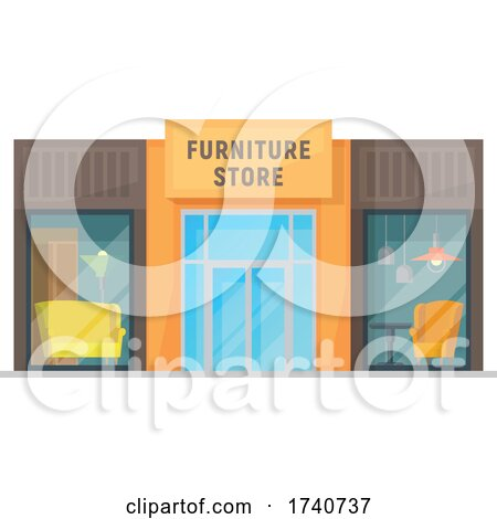 Furniture Store Building Storefront by Vector Tradition SM