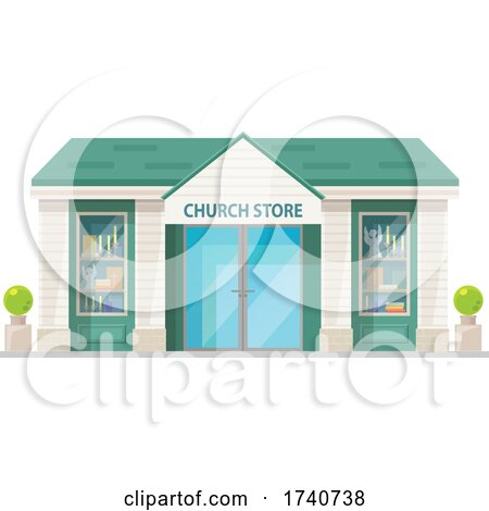 Church Store Building Storefront by Vector Tradition SM
