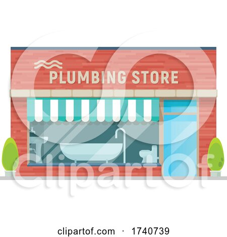 Plumbing Building Storefront by Vector Tradition SM