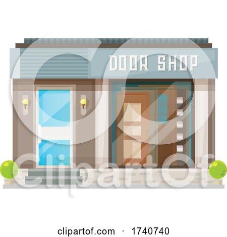 Door Shop Building Storefront by Vector Tradition SM