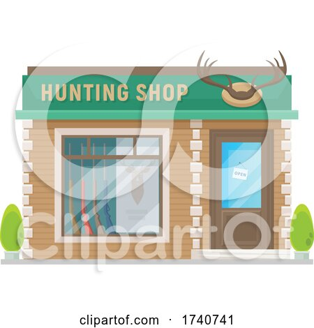 Hunting Shop Building Storefront by Vector Tradition SM