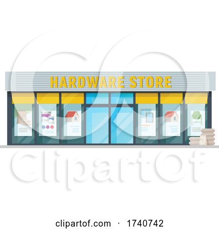 Hardware Store Building Storefront by Vector Tradition SM
