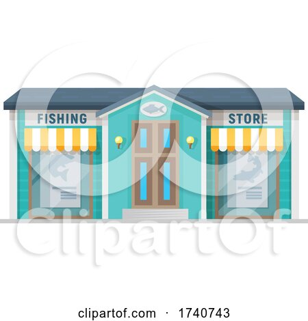Fishing Store Building Storefront by Vector Tradition SM