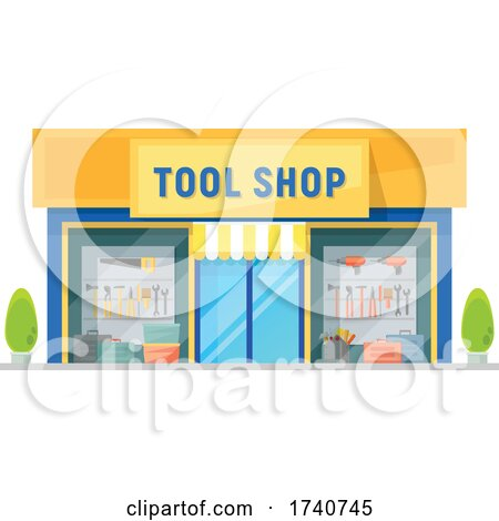 Tool Shop Building Storefront by Vector Tradition SM