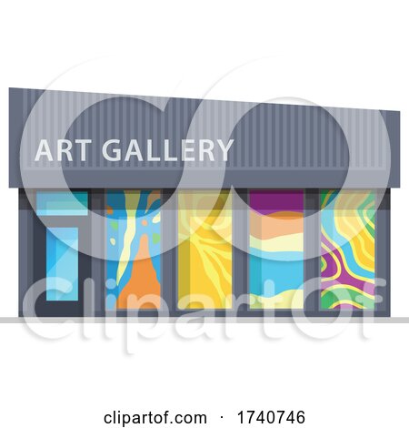 Art Gallery Building Storefront by Vector Tradition SM