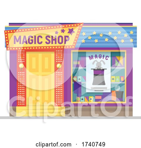 Magic Shop Building Storefront by Vector Tradition SM