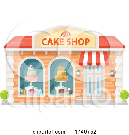 Cake Shop Building Storefront by Vector Tradition SM