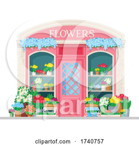Flower Building Storefront by Vector Tradition SM