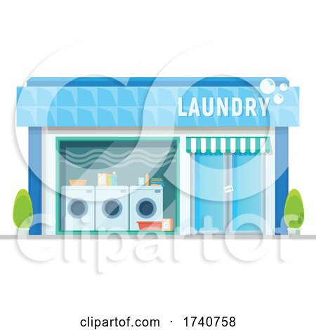 Laundry Building Storefront by Vector Tradition SM