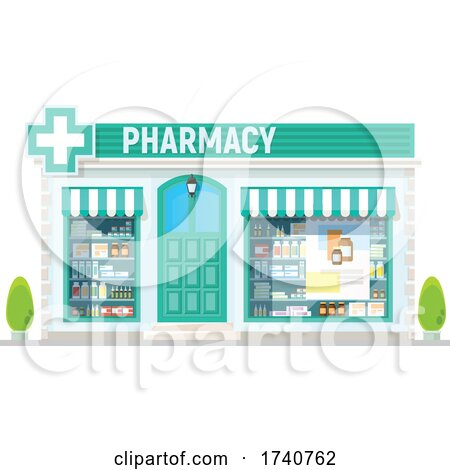 Pharmacy Building Storefront by Vector Tradition SM