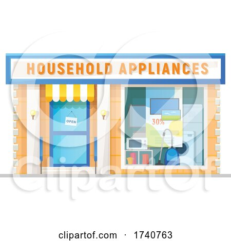 Household Appliances Building Storefront by Vector Tradition SM