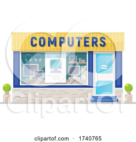 Computers Building Storefront by Vector Tradition SM