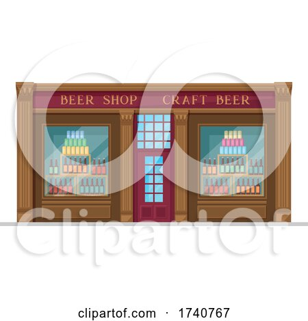 Beer Shop Building Storefront by Vector Tradition SM