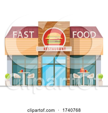 Fast Food Restaurant Building Storefront by Vector Tradition SM
