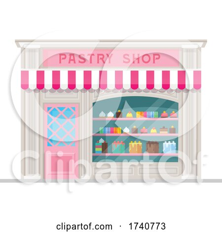 Pastry Building Storefront by Vector Tradition SM