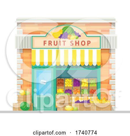 Fruit Shop Building Storefront by Vector Tradition SM