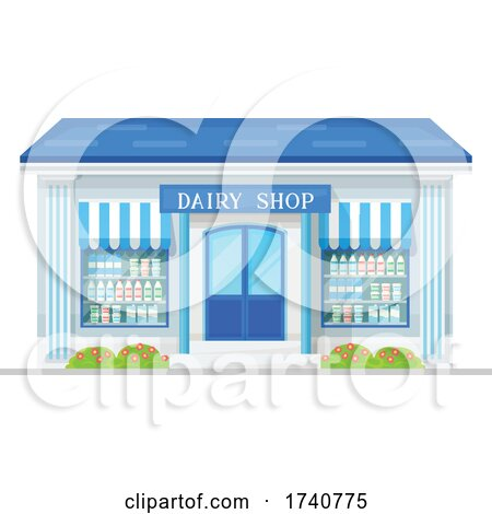 Dairy Building Storefront by Vector Tradition SM