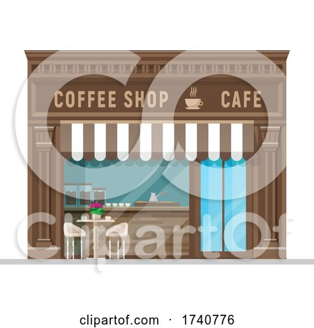 Coffee Shop Building Storefront by Vector Tradition SM