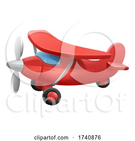 Cute Airplane Cartoon by AtStockIllustration