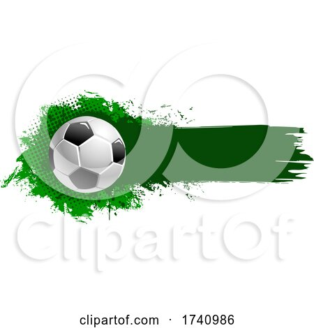 Soccer Ball and Grunge by Vector Tradition SM