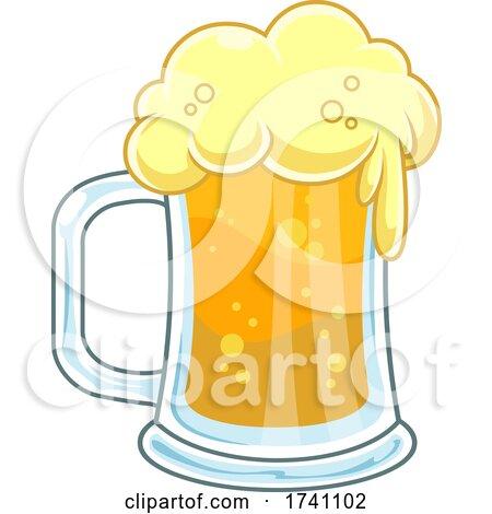Cartoon Foamy Beer by Hit Toon