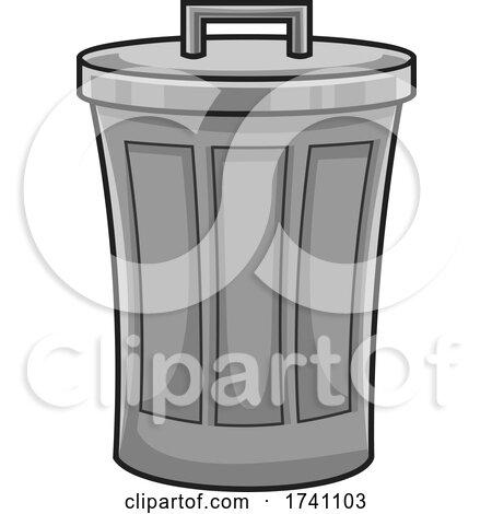 Cartoon Trash Can by Hit Toon