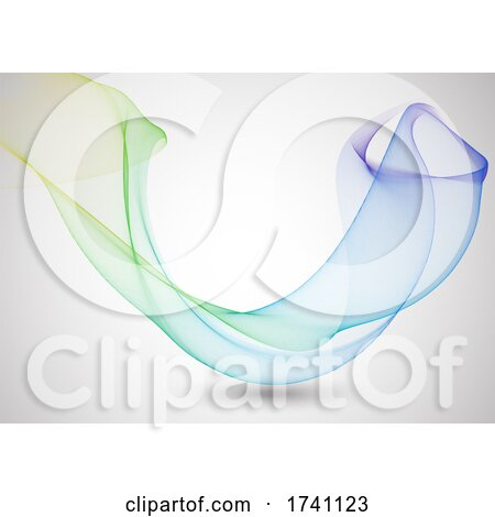 Abstract Background with Flowing Lines by KJ Pargeter