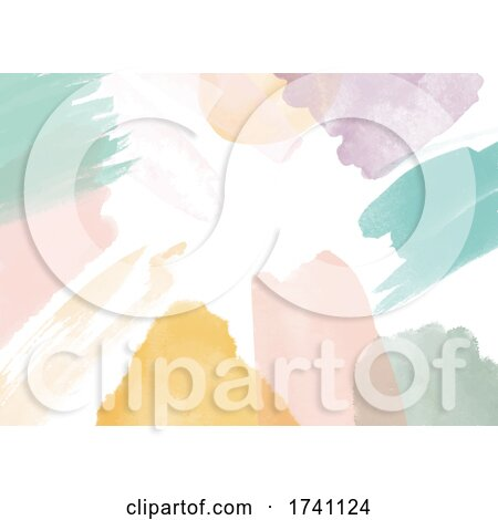 Abstract Hand Painted Watercolour Background by KJ Pargeter