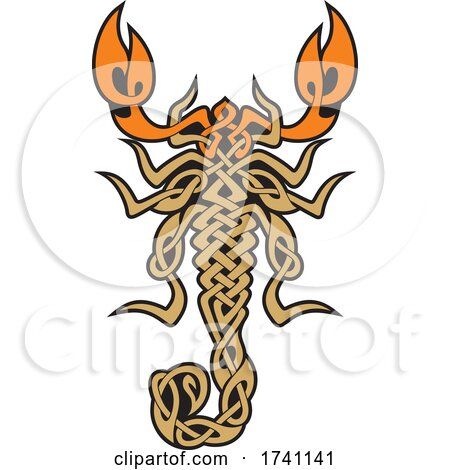 Celtic Scorpion from Above by Any Vector