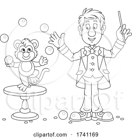 Magician with a Juggling Monkey by Alex Bannykh